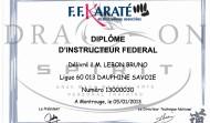 Diplôme Instructeur Fédéral FFKDA