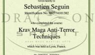 Diplôme Wingate Anti Terror Techniques
